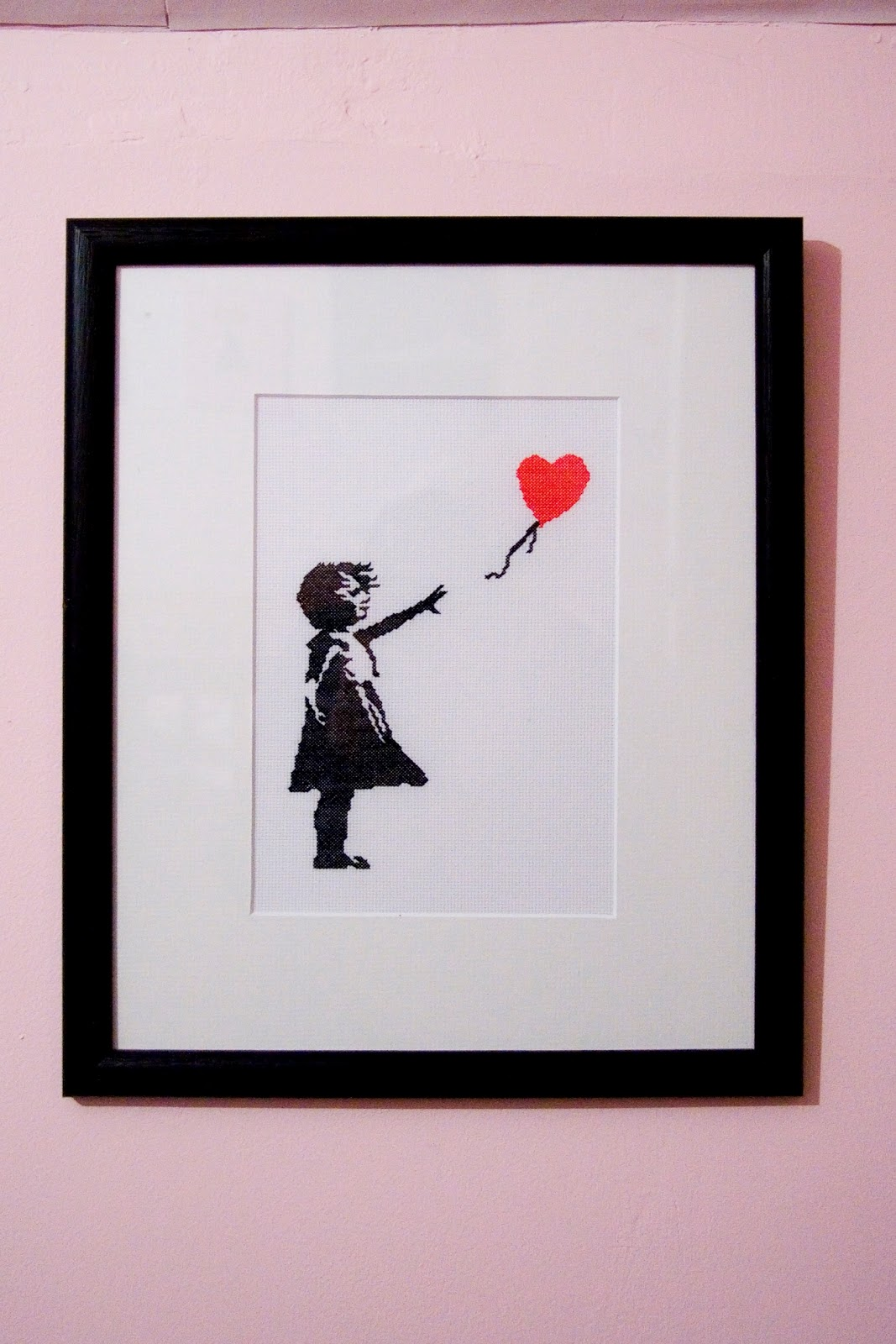 stitched up by leona banksy balloon girl. Black Bedroom Furniture Sets. Home Design Ideas