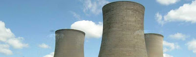 Cooling towers at nuclear plant
