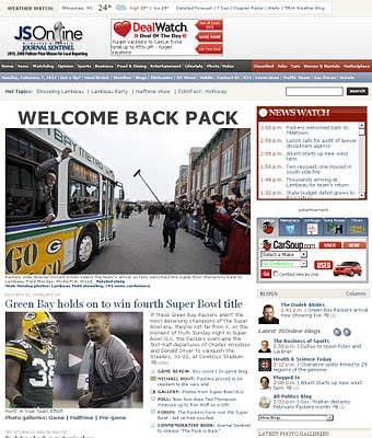 Packers return home champs