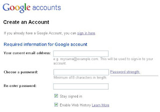 akun dan password gmail