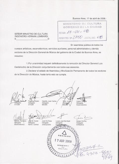 NOTA DE TODOS LOS DELEGADOS