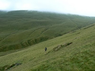 Matt descending into Ashdale Gill