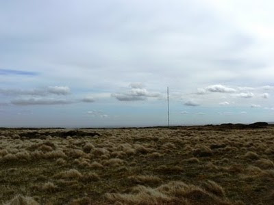 Looking across Tooleyshaw Moss to the Holme Moss transmitter