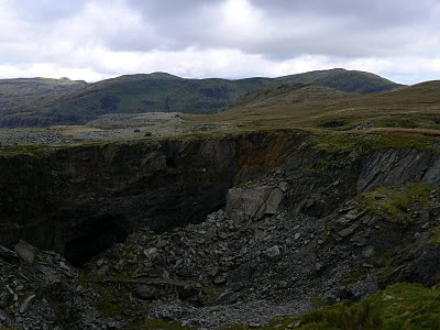 The open cast mine of West Twll
