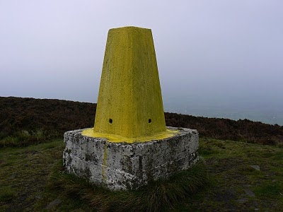 Whoever thought painting the trig point on Longridge Fell this shade of yellow was a good idea needs to think again
