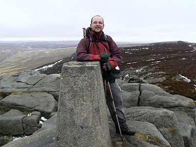 Standing by the trig point on Simon's Seat - one of my favourite viewpoints in the Yorkshire Dales