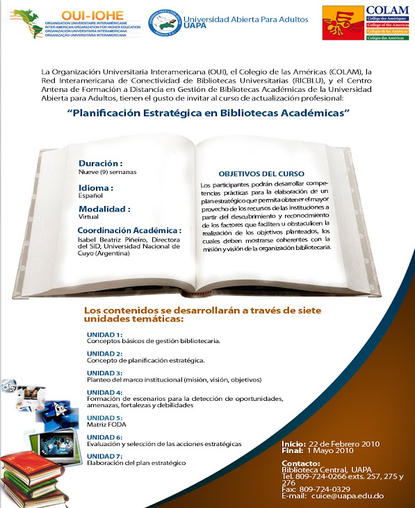 Curso de Planificación Estratégica en Bibliotecas Académicas