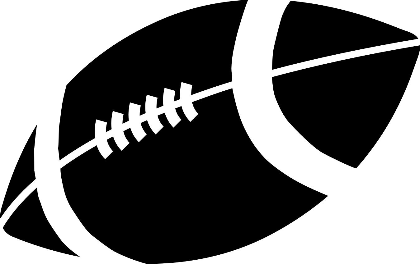 Black and white football clipart illustration