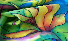 Bird of Paradise Hand Painted Silk Scarf