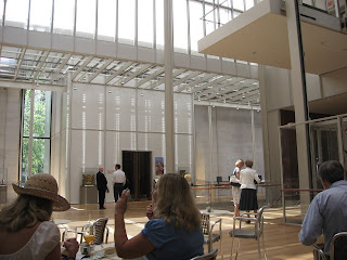 renzo piano pierpont morgan library and museum interior cafe view