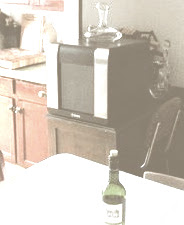 memory of a working wine fridge heat-tinted photo of a long hot summer