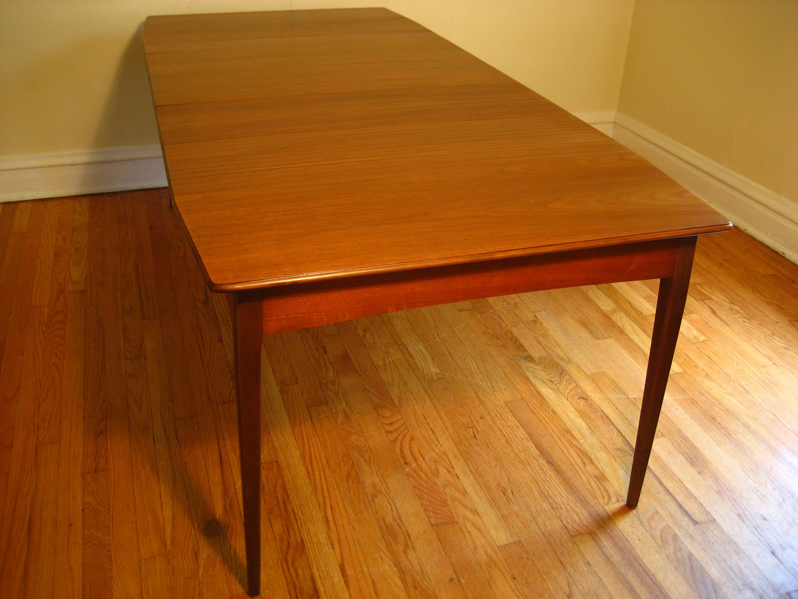 Rosewood dining table with nested dining chairs by hans olsen ...
