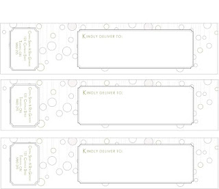 custom wedding wrap around address labels