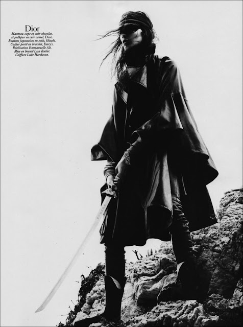 Daria Werbowy by David Sims, Vogue Paris Aug 2010