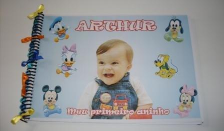 Livro de assinatura baby disney
