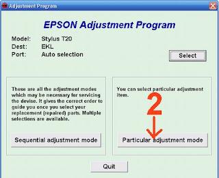 Atasi Printer Epson Stylus T20 Blinking dengan Resetter
