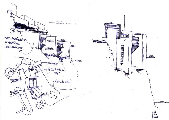 Dibujos de arquitecto architect drawings museo para el - Trabajo arquitecto barcelona ...
