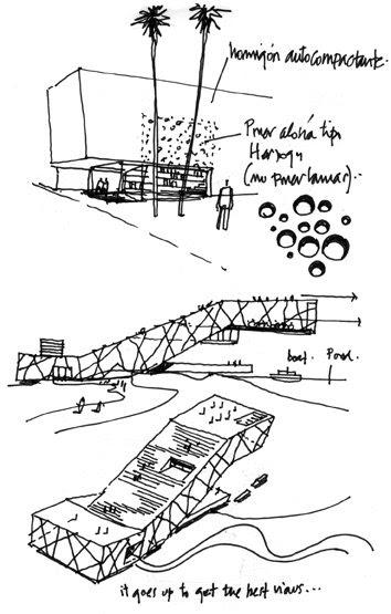 Dibujos de arquitecto architect drawings estudio para - Trabajo arquitecto barcelona ...