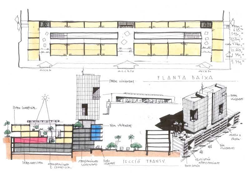 Dibujos de arquitecto architect drawings 101118 - Trabajo arquitecto barcelona ...