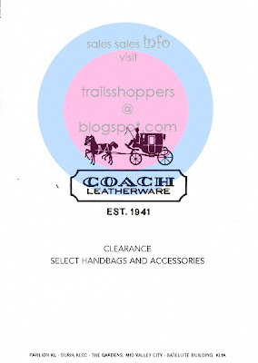 COACH Handbags Accessories Clearance Sale Pavilion KLCC Gardens KLIA