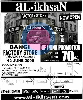 Al-IkhsaN Bangi Factory Store Sale