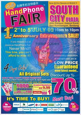 Hello Handphone Fair 1st Anniversary Extravaganza SALE