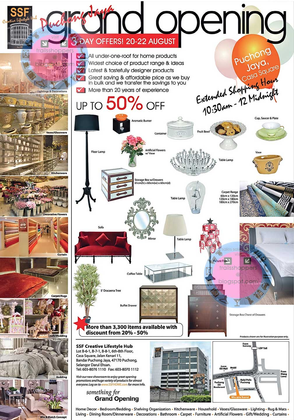 Ssf grand opening offers up to 50 20 aug 22 august for Ssf home designs