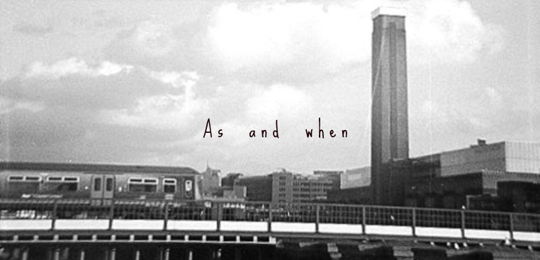 As and when..