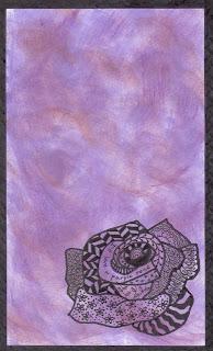 Purple Rose Zentangle