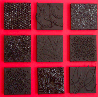 Nine Textured Black Paintings