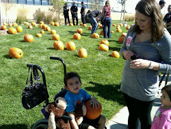 Dj,Mom,Kiara at the Pumpkin Patch Denver Children's Hospital