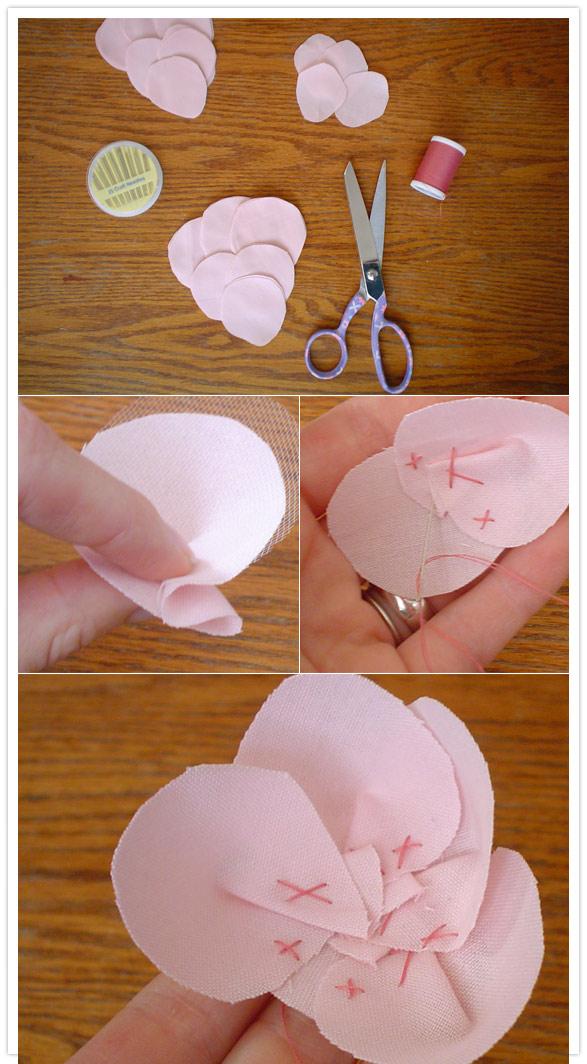 Как делать цветок из ткани своими руками