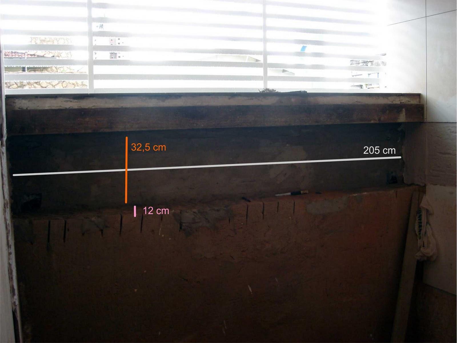 Assim como a janela o nicho foi feito de fora a fora no box com 2 05  #BA5311 1600 1200
