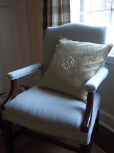 the upholstered chair