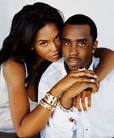 Sean Combs and Kim Porter
