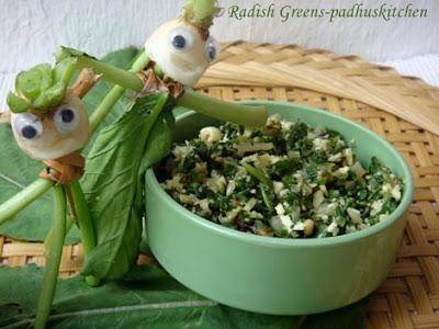 radish greens-mullangi keerai