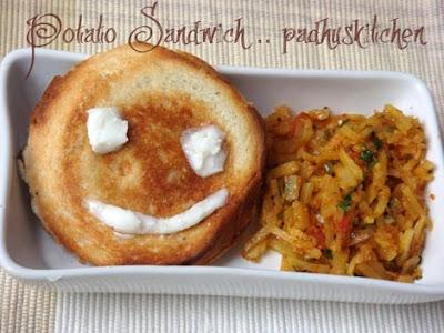 potato sandwich-Kids special