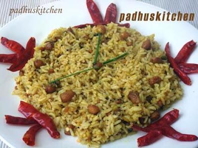 Tamarind rice-Puliogare-Puliyodharai