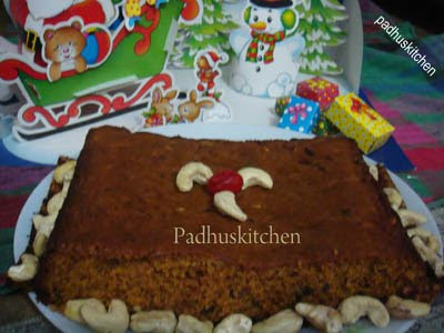 fruit cake decoration. Your fruit cake is ready.