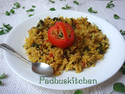 Methi Pulao-Methi rice