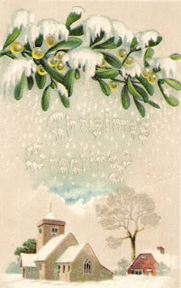 Christmas Vintage Postcard  as seen on linenandlavender.net:  http://www.linenandlavender.net/2009/08/paris-is-mad.html