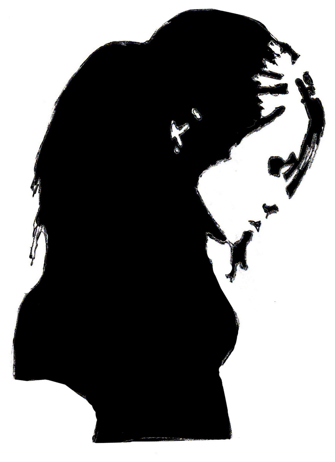 Drawings and Paintings: Girl Silhouette