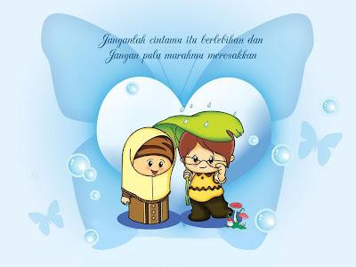 Lelaki Soleh, Wanita Solehah, Lelaki dan Wanita Islam, Kartun Lelaki Soleh, Kartun Wanita Solehah, Couple