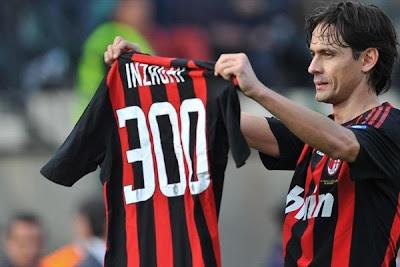 Pippo Inzaghi 300th Goal AC Milan Shirt