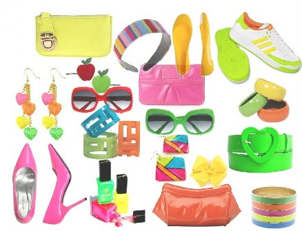 mirror on the wall neon colors outfits