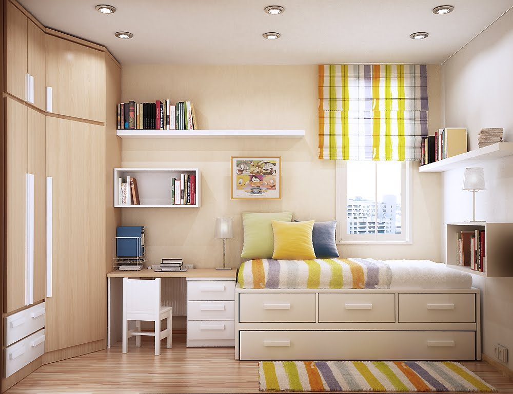 Modern Rooms Ideas Designing Small Rooms Space Saving Shelves In