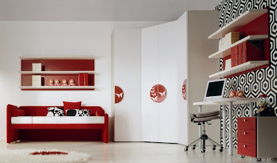 Colorful Modern Minimalist Kids Bedroom by Di Liddo & Perego