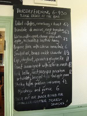 Charles Lamb menu