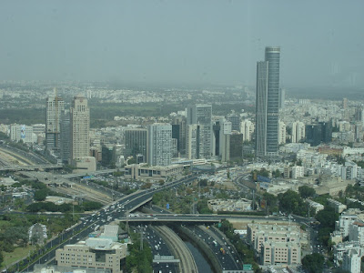 Looking out towards Ramat Gan