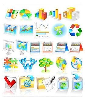 Business Icon Business Market Graph Icons